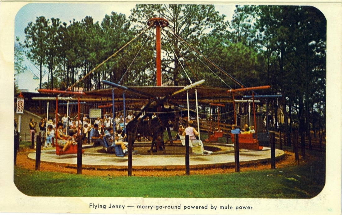 Six Flags Postcard Flying Jenny