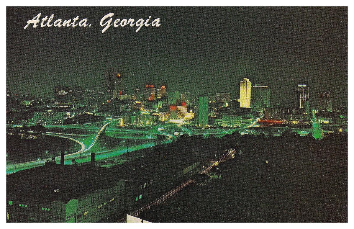 Atlanta Skyline Circa 1968